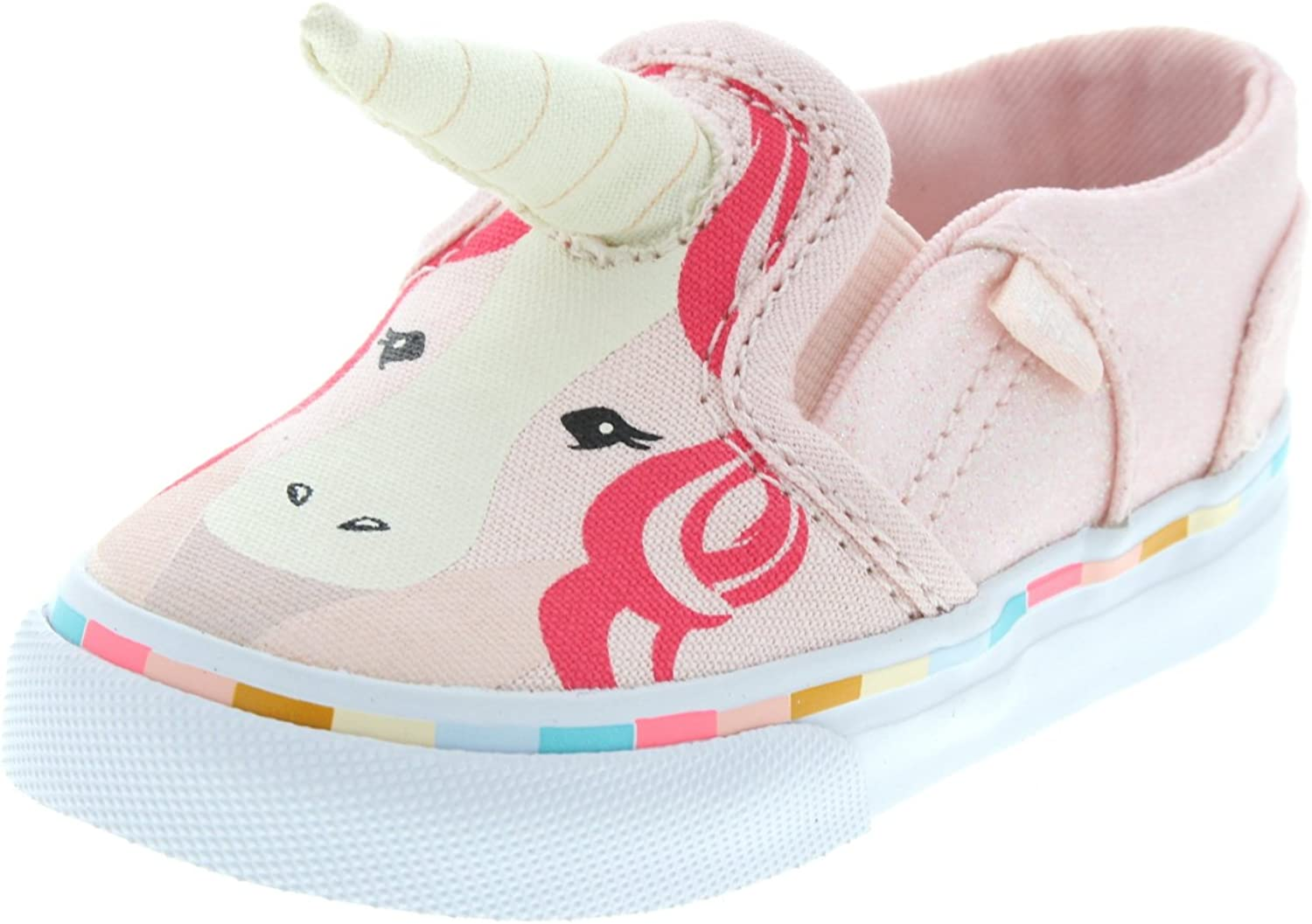 Vans Toddler Girls Asher V Pink Unicorn with Horn Sneakers ...