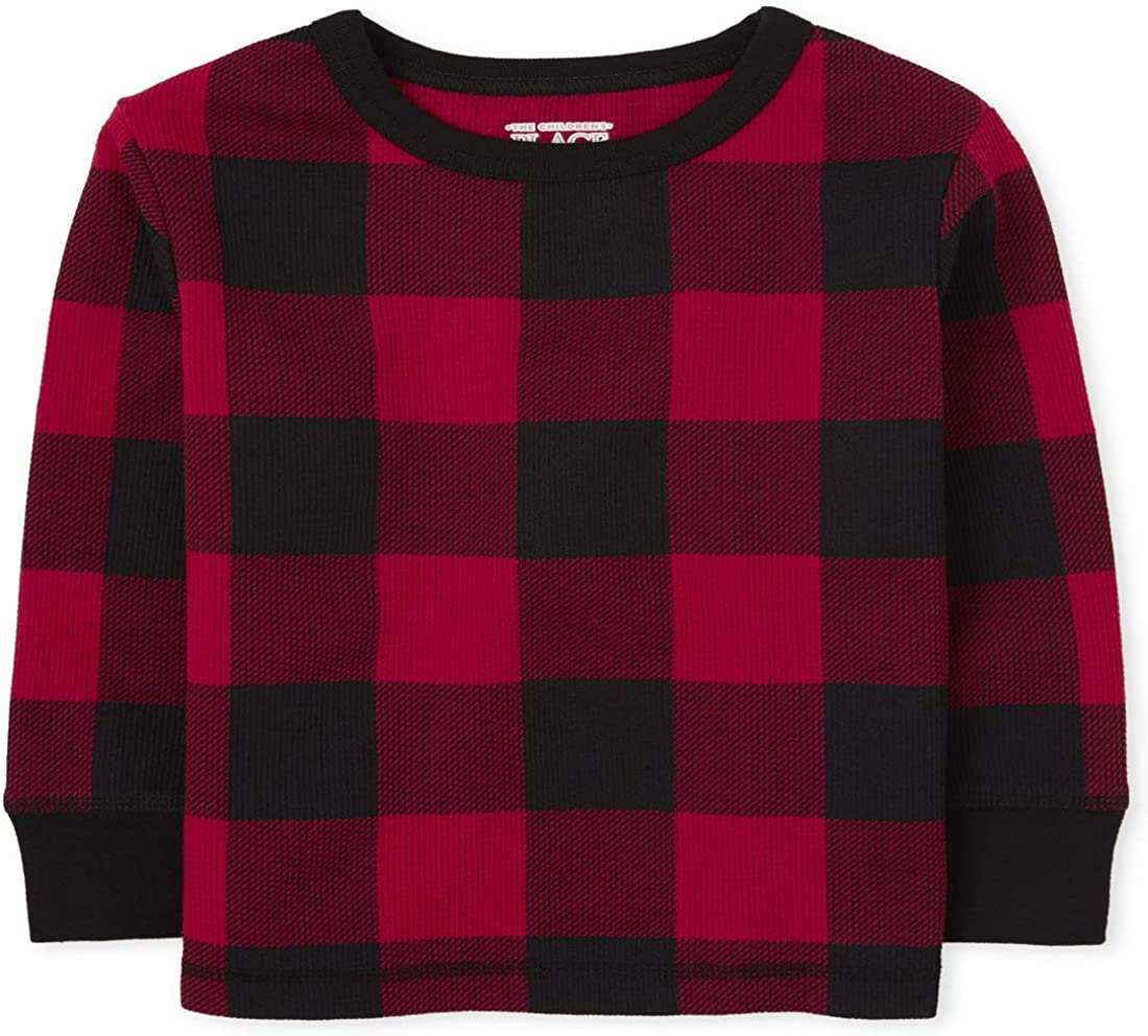 The Children's Place Boys' Toddler Buffalo Plaid Thermal Top