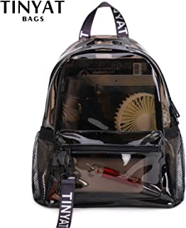 Black Backpack 32X29X14cm Clear PVC Women Backpack Transparent Fashion Solid Backpack Travel School Backpack Bag for Teenage Girls Mochila Children