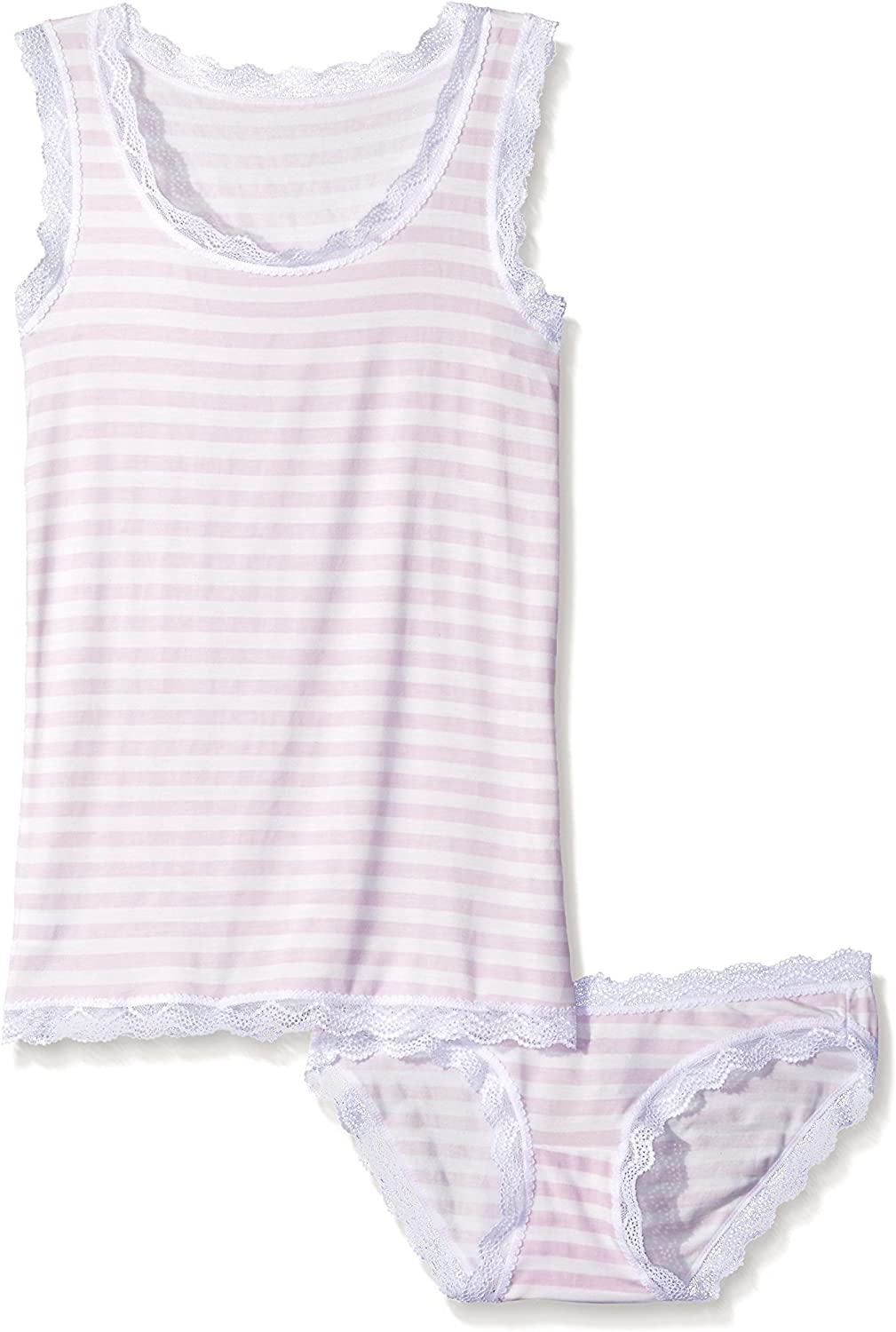 Cheekfrills Women's Candy Stripe Vest and Knicker