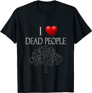 I Heart (Love) Dead People - Genealogy T-Shirt, Dark