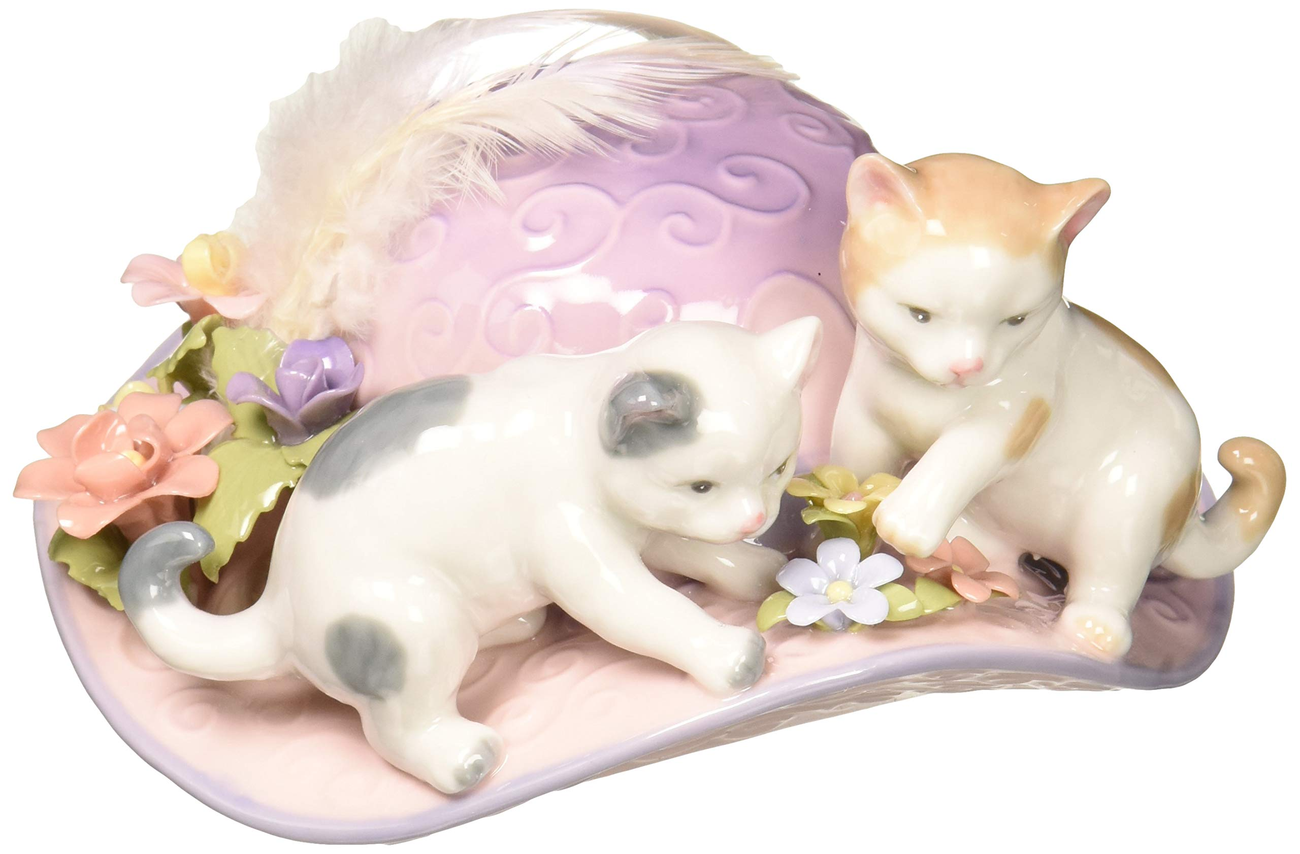 Image of Playing Kittens Musical Figurine