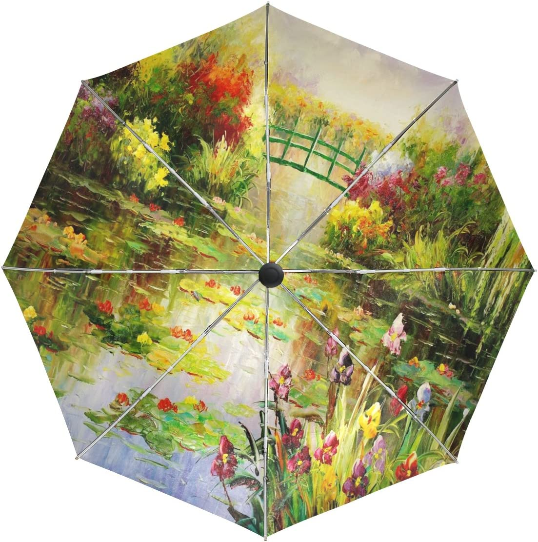 baihuishop Monet Cheap Super special price super special price Painting Windproof Umbrellas Auto Close 3 Open