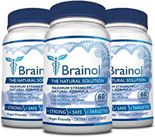 Brainol - The Smartest Choice for a Brain Boosting Nootropic. Enhance Mental Performance, Focus & Clarity - with DMAE, Hup...