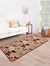 Saral Home Maroon Soft Cotton Tufted Jaquard Kitchen/Bed Side Runner- 40x120 Cms