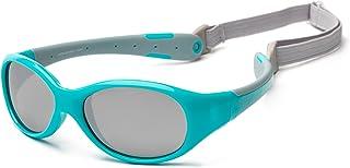 Koolsun Flex Sunglasses for 0-3 Years Baby, Aqua Grey