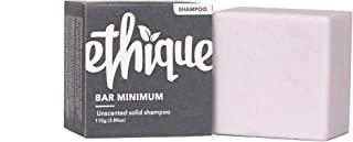 Ethique Eco-Friendly Unscented Solid Shampoo, Bar Minimum - Sustainable Natural Shampoo, Palm Oil Free, Sulfate Free, Plas...