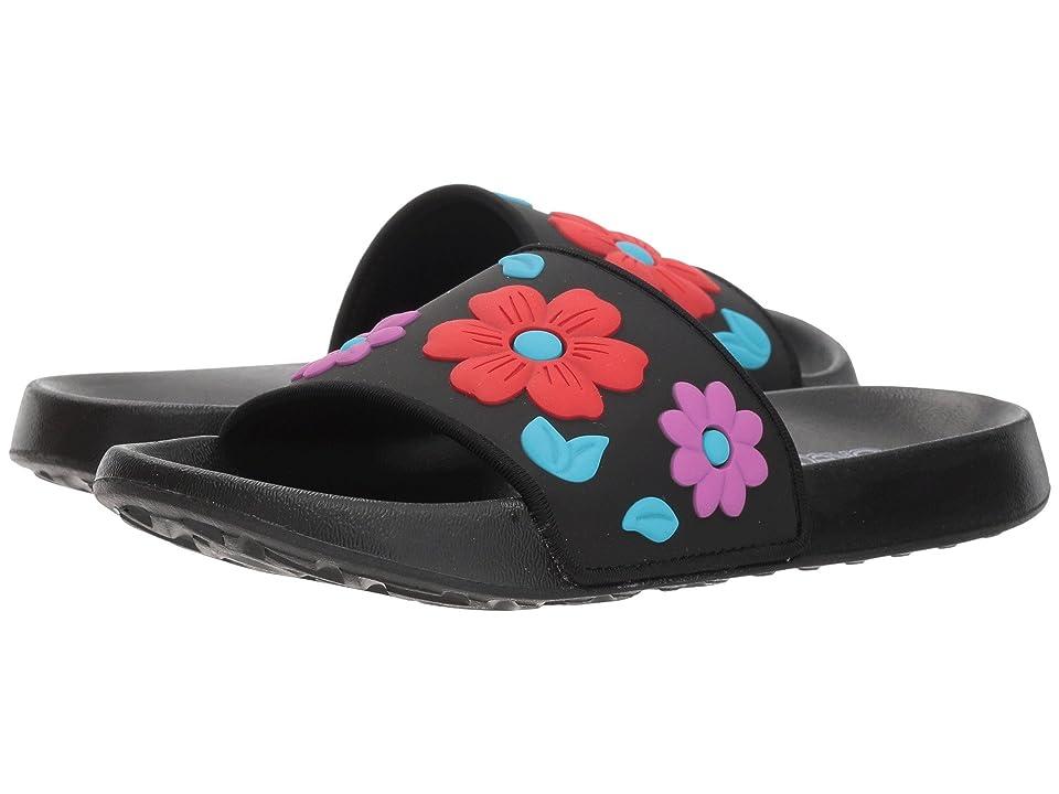 SKECHERS KIDS Sunny Slides Blossom Vibes (Little Kid/Big Kid) (Black/Multi) Girls Shoes