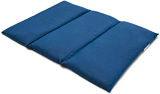 Coussin aux graines de lin - Taille 40x30-3 compartiments - Bleu - Coton Bio - Coussin thermique - Coussin aux graines - C...