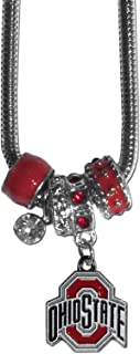 NCAA Ohio State Buckeyes Women's Euro Bead Necklace, Red