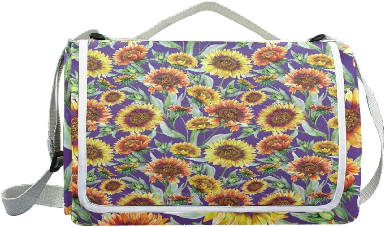 HYFA Sunflower Flowers Picnic Outdoor Park Milwaukee Mall 2021 new Blanket B Mat Beach