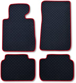 RAU Passform Gummimatte Fussmatte Octagon mit roter Bandeinfassung   passend für das von Ihnen ausgewählte Fahrzeug, Siehe Artikelbeschreibung