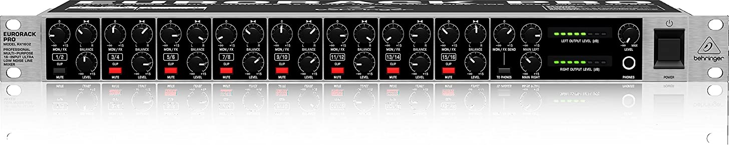 Behringer Eurorack Pro RX1602 Professional Multi-Purpose 16-Input Ultra-Low Noise Line Mixer