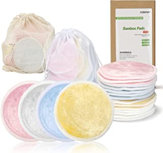 KCENTURY Reusable Makeup Remover Pads, Washable face Cleaner and Eyes Make Up Remover Pads, Eco Friendly & Zero Waste Cott...