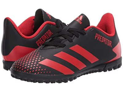 adidas Kids Predator 20.4 TF J Soccer (Little Kid/Big Kid) (Black/Active Red) Kids Shoes