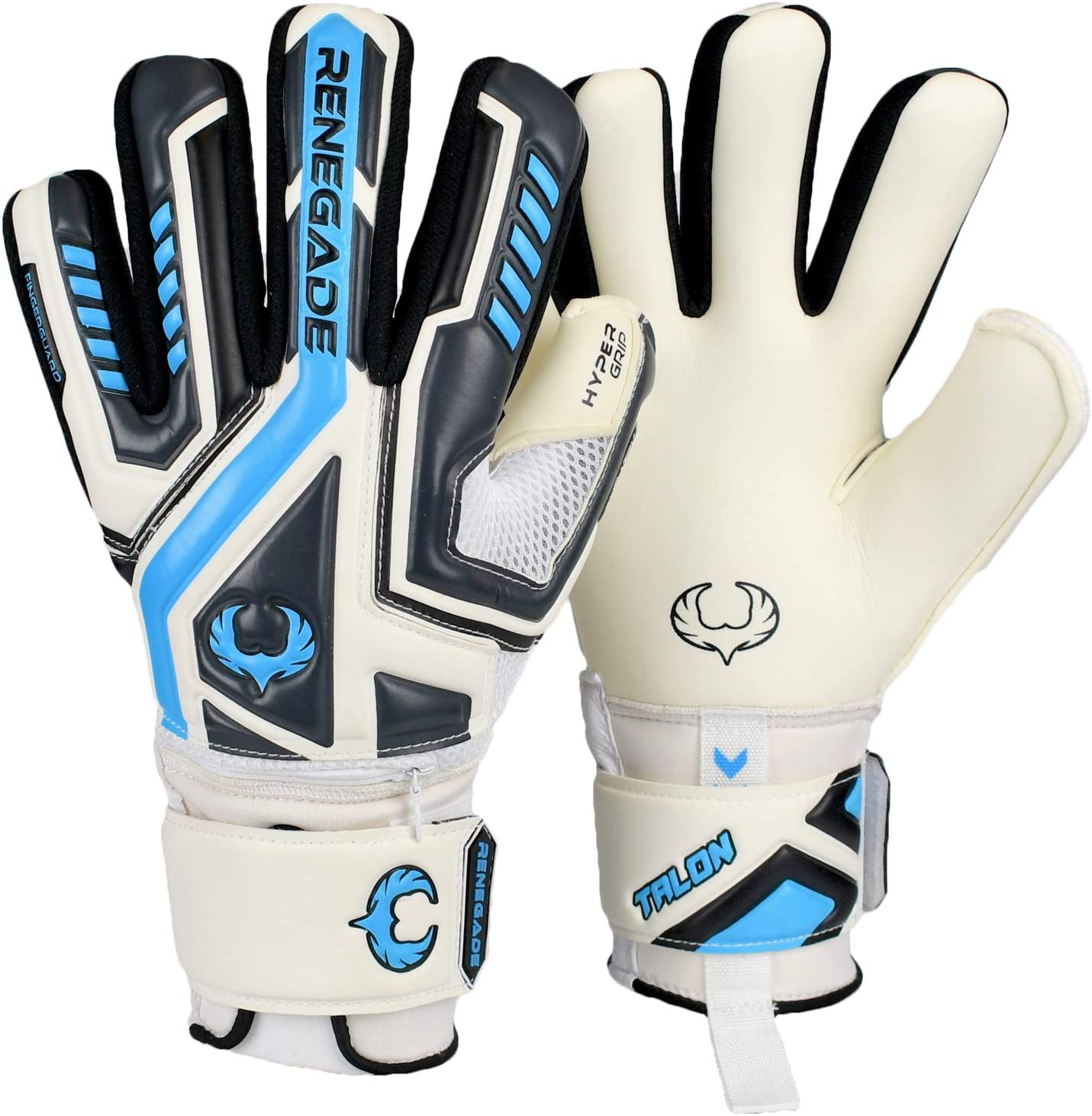 Based in The USA Pro-Tek Fingersaves /& 3.5+3mm Hyper Grip Sizes 5-11, 3 Styles, Level 2 Versatile Glove for All Ages /& Levels Renegade GK Talon Goalie Gloves with Microbe-Guard