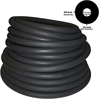3/8in OD 1/8in ID Speargun Band/Sling Thick Walled Black Latex Rubber Tubing ONE Continuous Piece(#408) (Select Length)