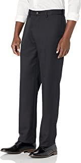 Men's Expandable Waist Classic-Fit Flat-Front Dress Pants