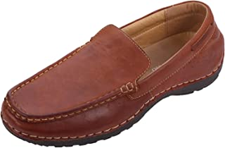 CREPUSCOLO Men's Slip On Loafers Leather Driving Shoes Moccasins for Men Casual Comfort Formal Business Work Lightweight A...