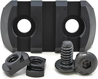 STNGR USA 3-Slot M-Lok Aluminum Picatinny Rail Section Accessory - Proudly Made in USA - Includes 2 T-Nuts & 2 Screws