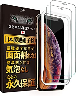 Less is More iPhone 11 Pro MAX iPhone Xs MAX ガラスフィルム 2枚セット 貼り付けガイド枠付き 最高硬度9H 防指紋 気泡なし 日本製 TM-9003