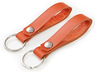 Leather Keychain Bright Color – Handmade In the USA, Designer Leather, Valet Key, Leather Key Fob, Great Gift Idea.