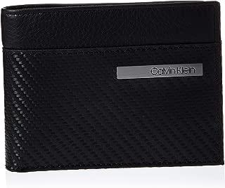 Calvin Klein Carbon Leather Billfold 8Cc Wallet, Black, 12 cm K50K505065