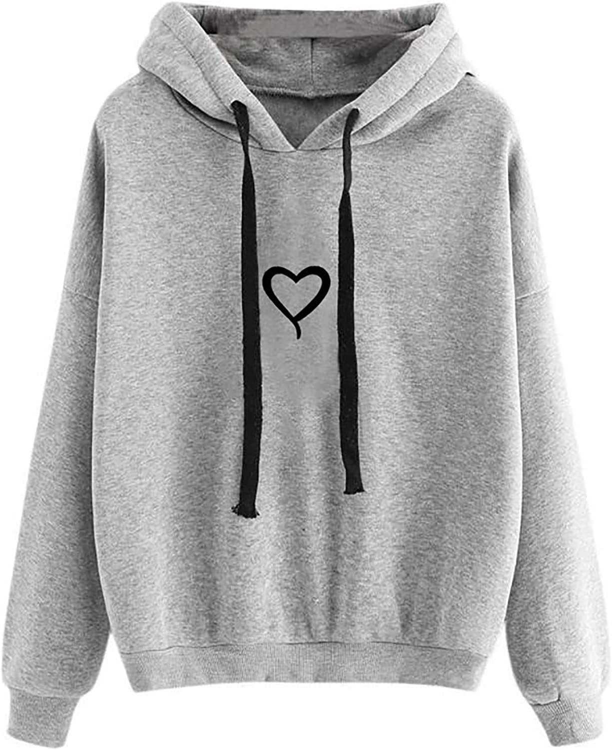 Sweatshirts for Women, Womens Long Sleeve Cute Graphic Hoodie and Sweatshirt Crewneck Casual Loose Pullover Tops