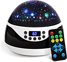 AnanBros Remote Baby Night Light with Timer Music, Star Night Light Projector for Kids, Rotating Kids Night Lights for Bedroom 9 Color Options, Projection Lamp for Baby Christmas Gifts Black