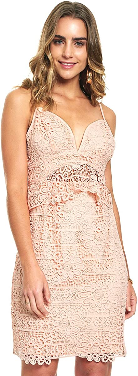 GUESS Free Shipping Cheap Bargain Gift Super popular specialty store Women's Sleeveless Solstice Dress Lace