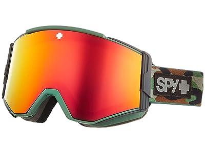 Spy Optic Ace (Camo Hd Plus Bronze w/ Red Spectra Mirror + Hd Plus Ll Yellow) Goggles