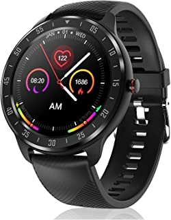 JessFash Reloj Inteligente Pulsera de Fitness Pantalla táctil Completa Rastreador de Fitness Reloj Impermeable Bluetooth Reloj Inteligente Reloj Deportivo Podómetro Monitores frecuencia Cronómetro