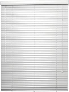 Custom Made 1 Inch Aluminum Mini Blinds - Inside Mount - Customize to 1/8 of an Inch - White Grey Black Brown Red Blue (36 1/8