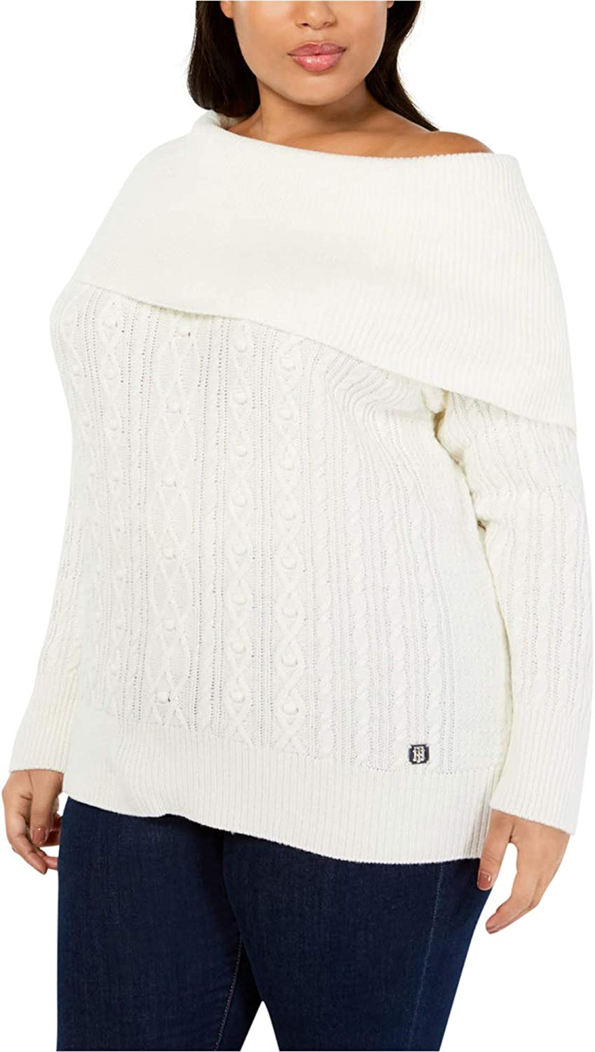 Tommy Hilfiger Womens Cable Knit Pullover Sweater