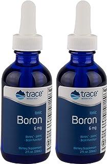 Trace Minerals Liquid Ionic Boron, 6mg, 2 oz (Pack of 2)
