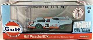Greenlight Rare Chase Green Machine 86435 Steve McQueen Gulf Porsche 917K 1:43 Scale