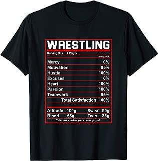 Funny Wrestling Nutrition Facts Women Men Wrestler T-Shirt