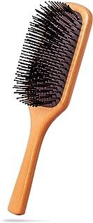 PINJEAS高級 ヘアブラシ 木製 パドルブラシ くし ヘアケア 血行促進 薄毛改善 頭皮マッサージ 木製櫛 艶髪 美髪ケア 頭皮に優しい メンズ・レディース・キッズに適用