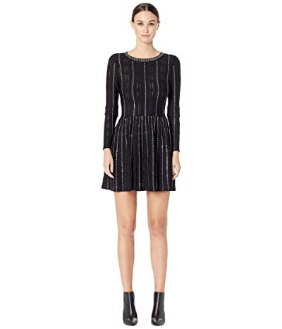 The Kooples Fully Studded Knit Dress (Black) Women