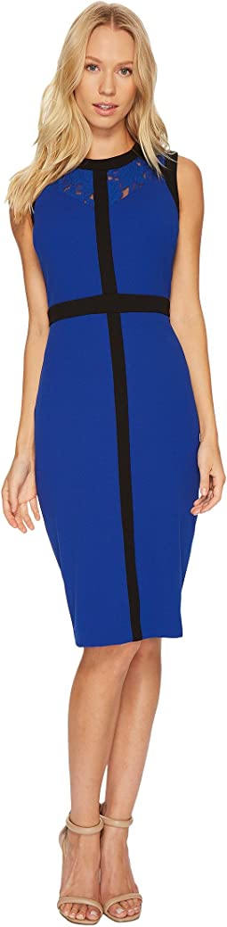 Christin Michaels - Dylan Sleeveless Dress with Neck Detail