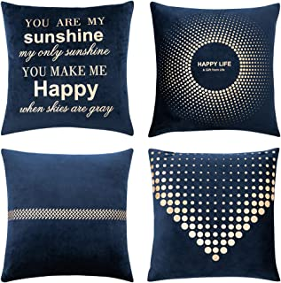 navy blue and gold bedding