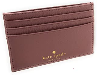 Kate Spade New York Graham Greta Court Wallet Business Credit Card Case Glitter Dusty Peony