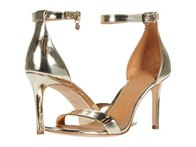 Tory Burch Ellie 85 mm Ankle-Strap Sandal (Spark Gold) Women