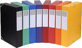 Exacompta - Réf. 19500H - 10 boites de classement avec élastiques CARTOBOX - livrées à plat - dos de 5 cm-carte lustrée 7/...