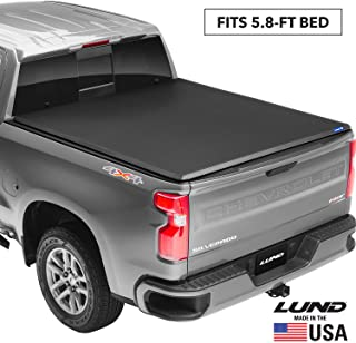 "Lund Genesis Tri-Fold, Soft Folding Truck Bed Tonneau Cover | 95092 | Fits 2007 - 2013 GMC/Chevy Sierra/Silverado 5' 8"" Bed"