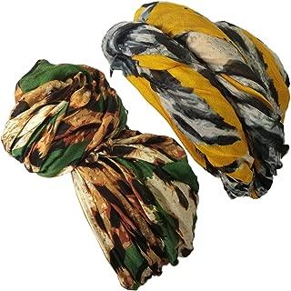 Head Wrap Scarf Turban Cotton Head Wrap Scarf African Print Head Tie Scarf Animal Leopard Print for women fashion CLP