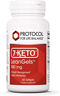 Protocol For Life Balance - 7-Keto LeanGels 100 mg - Healthy Metabolism Blend for Weight Management, Balancing Hormone Lev...
