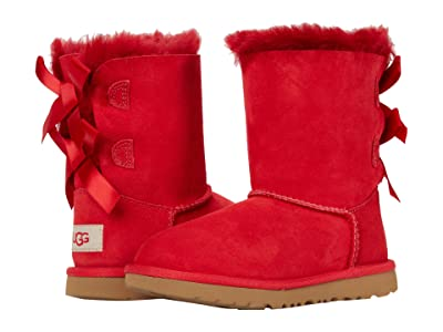 UGG Kids Bailey Bow II (Toddler/Little Kid) (Ribbon Red) Girls Shoes