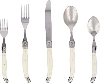 French Home 20 Piece Laguiole Flatware set in Faux Ivory