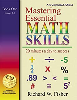 Mastering Essential Math Skills Book One Grades 4-5...INCLUDING AMERICA'S MATH TEACHER DVD WITH OVER 6 HOURS OF LESSONS!